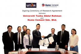 Signing Ceremony of Research Agreement between UTAR and Hume Cement